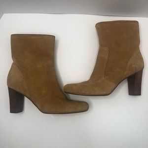 Unisa Genuine Leather Tan Ankle Boots Size 6